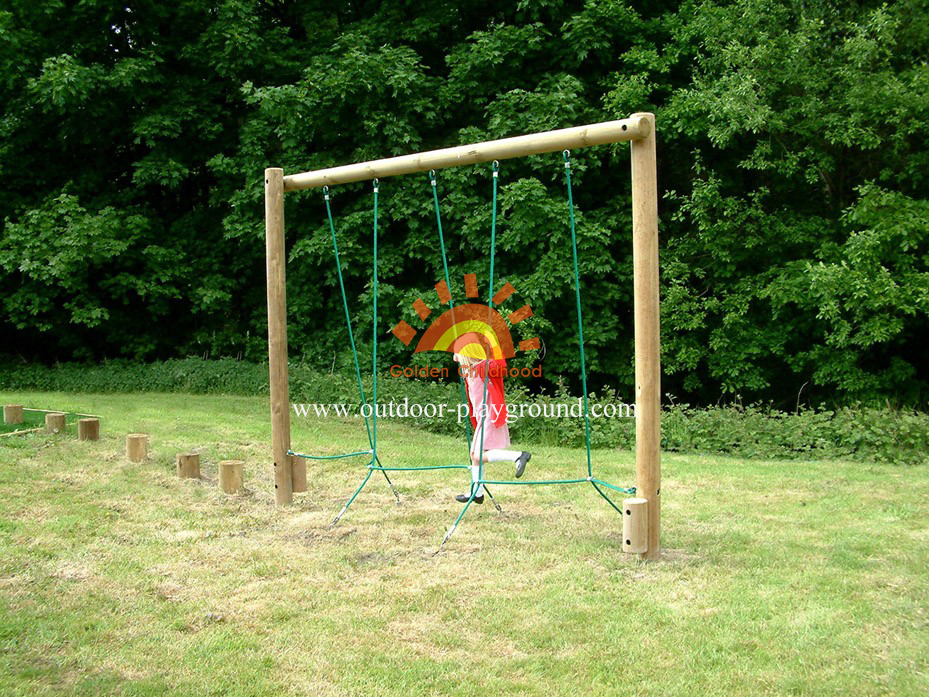 Rope Weaver Balance Playground Equipment For Children