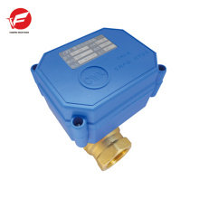 CWX-20 Válvula de bola motorizada de 3 vías DN20, válvula de bola eléctrica 6v, voltaje de 12V 24v para el retrete público electrónico