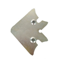custom sheet metal stamped zinc plated carbon steel / mild steel stamping parts