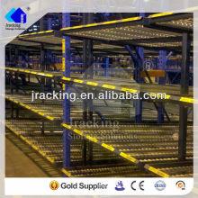 Estante de exhibición portátil del alambre, estante ajustable del flujo del cartón del almacenamiento de la unidad de estantería