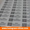 Etiquetas personalizadas de holograma com impressão de código Qr