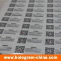 Анти-поддельные голографические наклейки с QR-код печать