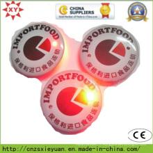 Étiquette de badge à bouton-pression ronde en gros avec logo personnalisé