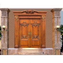 PHIPULO puerta de entrada principal diseño de madera maciza puertas de madera
