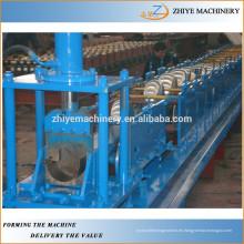 Canalón de acero cuadrado que forma la máquina / canalón cuadrado que hace la máquina