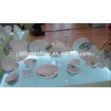 round shape Asian fine bone china European porcelain plate