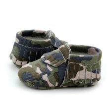 Sapatos de bebê Camuflagem Mocassim Sapatos