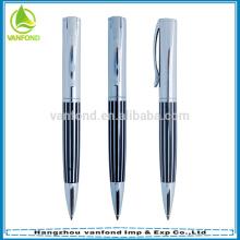 Ручка фабрика прямые высокое качество роскошь металла подарок ручка с коробки упаковки
