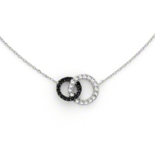 Moda 925 prata esterlina jóias conjunto colar chapeado