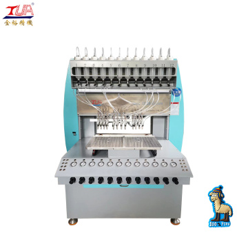 pvc plastisol patches dropping machine