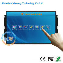 Tela larga toque do monitor do quadro aberto de 21,5 polegadas TFT com o adaptador da CC 12v