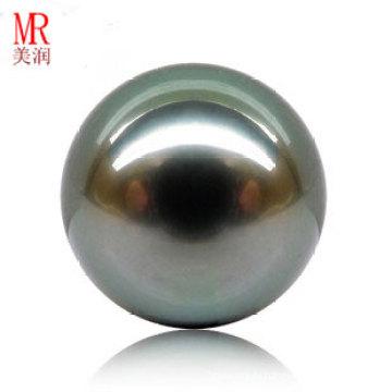 12mm неподдельный Tahitian черный свободный перлы