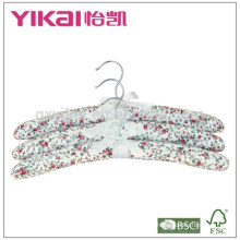 New style Set of 3pcs cotton padded clothes hanger for women