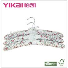 Novo estilo conjunto de 3pcs algodão acolchoado cabide de roupas para as mulheres