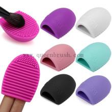 Outils de nettoyage d'échantillons gratuits Brush Egg Silicone Makeup Brush Cleaner