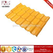 Дополнительное Высокое Сопротивление Погоды Шифер Плитка Крыши Синтетической Смолаы Желтый Цвет