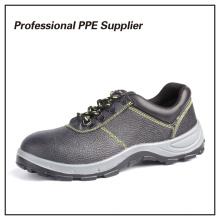Sapato de segurança de sapato de segurança de aço genuíno em couro