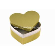 Novo Design Coração Forma Kraft Gift Packaging Box