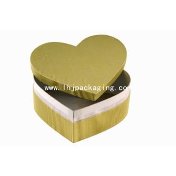 Новая коробка подарка упаковки формы сердца Kraft