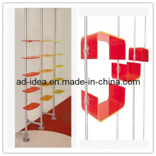 Socks & Scarves & Underwares Metal and Acrylic Wall Mount Stand