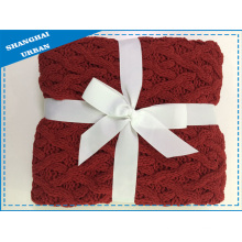 Synthetic Wool Chenille Throw Blanket