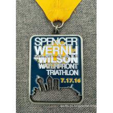 Custom Sport Event Medallón disponible de latón plateado antiguo