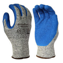 Cut Resistant Level 5 Work  Latex Coated Nylon Safety Protective Gloves For Garden Warehouse