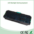Top Selling bunte LED-Hintergrundbeleuchtung Computer Gaming Keyboard (KB-903EL-C)