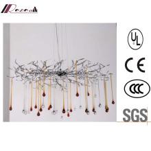 Guzhen Lighting Indoor Decoration Glass Drops Chandelier