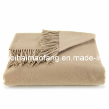 100%Cashmere Throw with Fringe