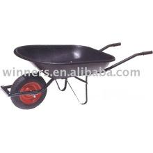 single wheel metal wheelbarrow