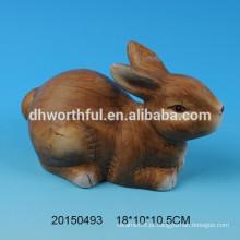 Decoração de cerâmica de presente de Páscoa em forma de coelho