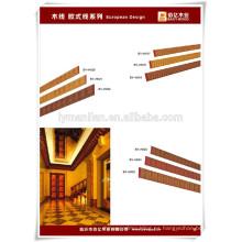 zócalo / madera decorativa techo moldeado / diseño de techo de madera fabricante