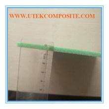 Espuma PVC 15 mm Verde 80kg Ranhura e furação