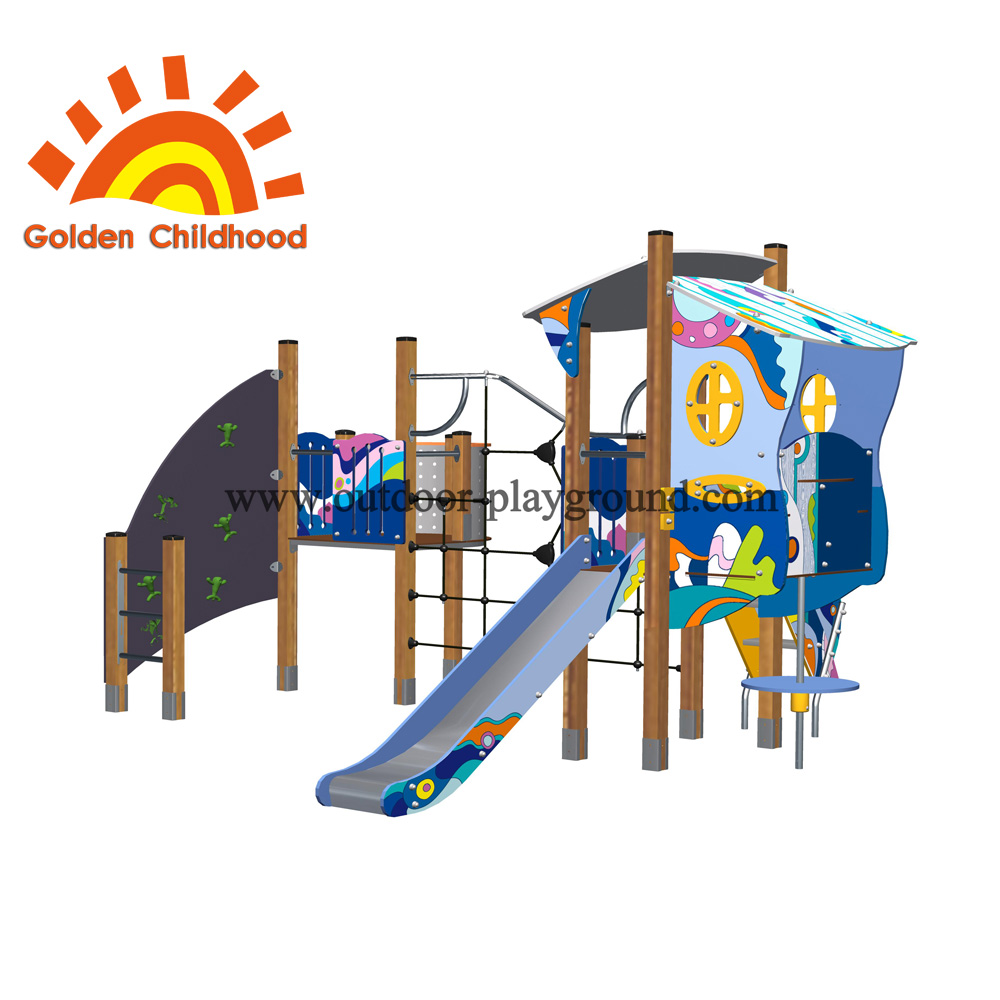 Panel Playhouse Outdoor Playground Facility For Children