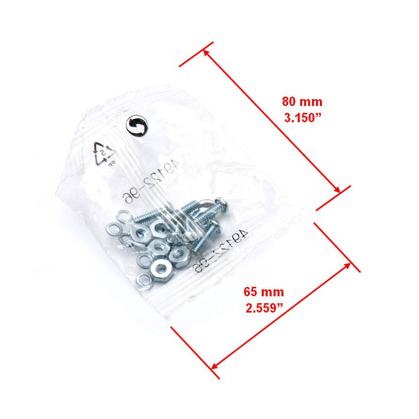 Hardware Pack Screw Packing Part Size