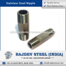 Precio asequible Durablility de larga duración, pezón de acero inoxidable para Pipe Line Industries