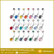 G23 Titan Press Fit Kristall Handwerk Nabel Bauchnabel Ring