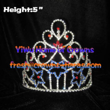 Beauty Blue Star Pageant Crystal Crowns