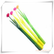 Bolígrafo de silicona con forma de hierba y flor para la promoción