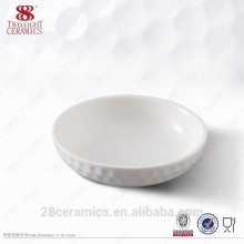 wholesale hotel used small dinnerware sets , white embossment sauce plate dish