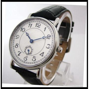 Beste Qualität-Echtleder-Quarz-Uhr für Mann 15122