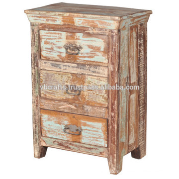 recycle wood drawer cabinet