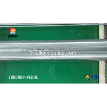 Hastelloy C22 Tube sans couture ASTM B622 UNS N06022