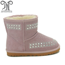 Youth Pink Ankle Boots for Kids Girls