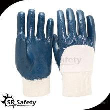 Best interlock liner 3/4 nitrile coated gloves/NBR work gloves