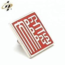 Custom enamel 3d die cast silver letter metal lapel pin