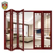 European modern design soundproof double laminated tempered glass aluminum bifold doors