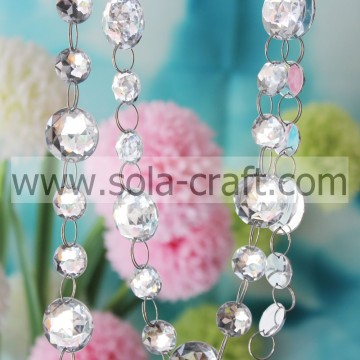 Acrylic Crystal Round Beads Mirror Wedding Tree Garland