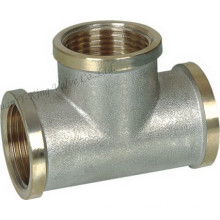 Nickel Plted Brass Female Tee Fitting (YD-6035)
